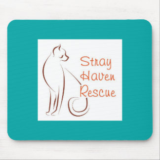 Stray Haven Teal Mousepad