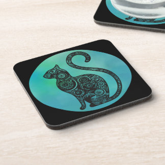 Stray the Cat {Neo-pop Realism Cat Coaster} Coaster