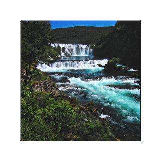 Štrbački buk waterfall in Bosnia and Herzegovina Canvas Print