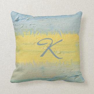 Streak of Sunlight Monogrammed Gift Throw Pillow