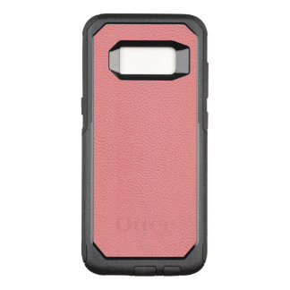Streaked Pink Leather Grain Look OtterBox Commuter Samsung Galaxy S8 Case