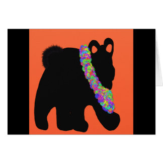 Stream black bear card