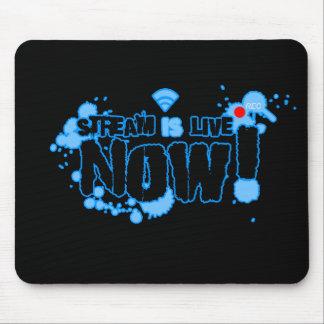Stream Black Mousepad