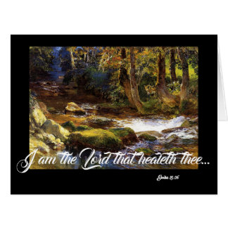 Stream Deer Trees God Heals Big Greeting Card