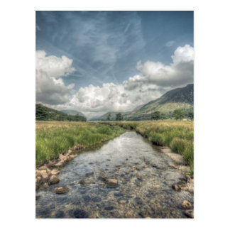 Stream flowing from Buttermere Lake in Windermere, Postcard
