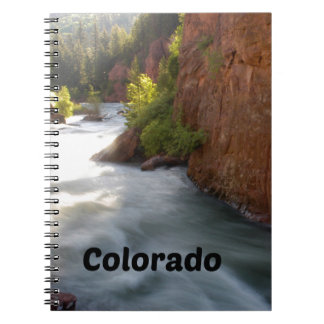 Stream in the Colorado Rockies Spiral Notebook