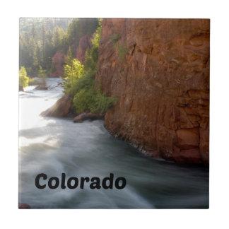 Stream in the Colorado Rockies Tile