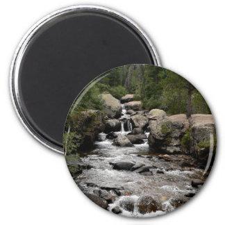 Stream in Wild Basin 2 Inch Round Magnet