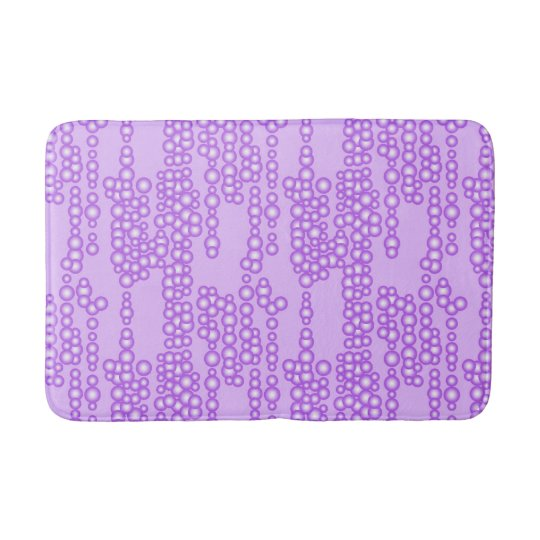 Stream of bubbles, shades of lavender bathroom mat