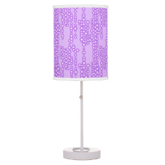 Stream of bubbles, shades of lavender table lamps