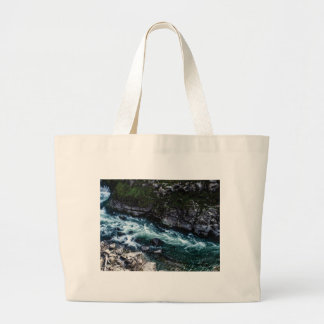 stream of emerald waters large tote bag