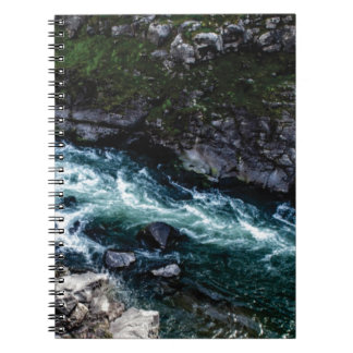 stream of emerald waters spiral notebook