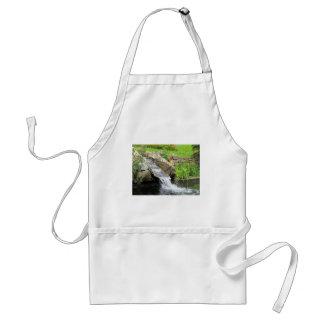 Stream of water running over rocks standard apron
