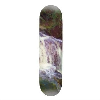 stream oil paint skate deck