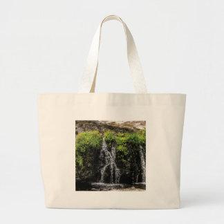 stream trickle falls large tote bag