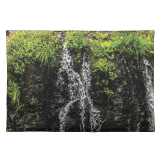 stream trickle falls placemat