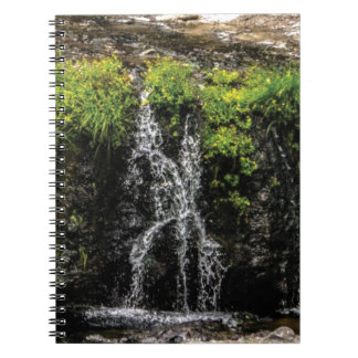 stream trickle falls spiral notebook
