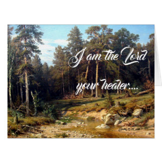 Stream Woods Trees God Heals Big Greeting Card
