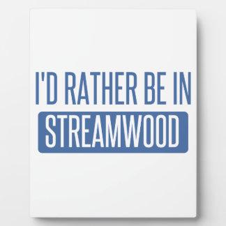 Streamwood Plaque