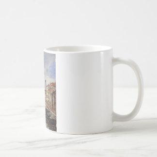 Street, Antibes by Eugene Boudin Coffee Mug