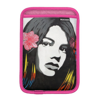 Street Art Graffiti Girl with Birds iPad Mini Sleeve