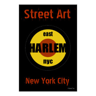 Street Art Harlem District Tag by Urban59 Poster