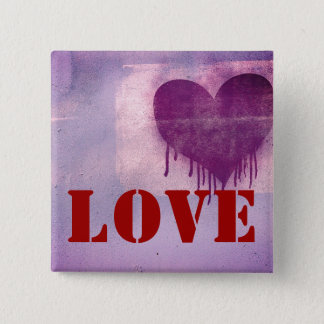 Street Art Heart Love 2 Inch Square Button