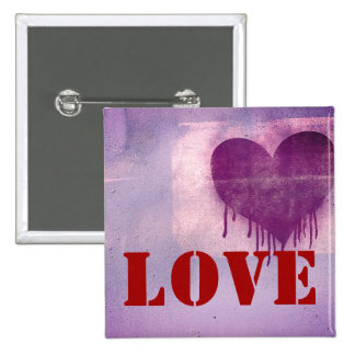 Street Art Heart Love 2 Inch Square Button
