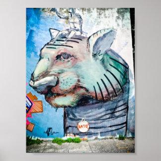Street Art In Buenos Aires - El Gato Poster