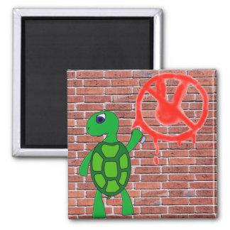Street Art Turtle Graffiti Magnet