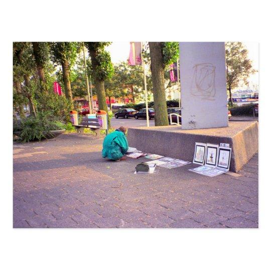 Street artist, Rotterdam Postcard