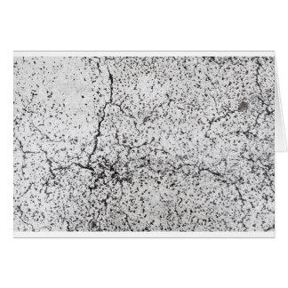 Street asphalt cracks texture card