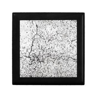 Street asphalt cracks texture gift box
