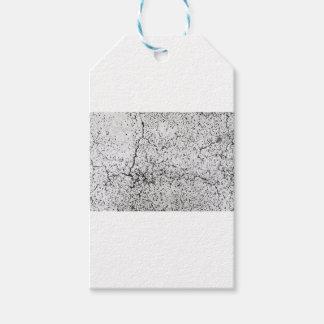 Street asphalt cracks texture gift tags