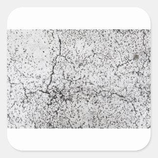 Street asphalt cracks texture square sticker