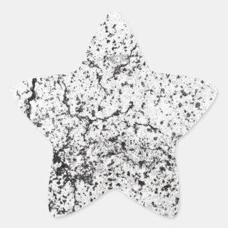 Street asphalt cracks texture star sticker