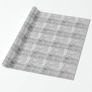 Street asphalt cracks texture wrapping paper