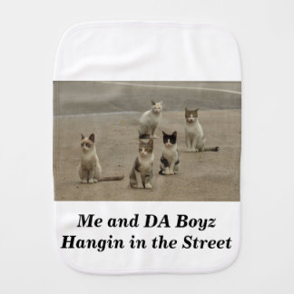 Street cats burp cloth