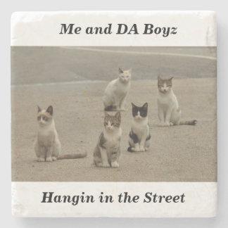 Street cats stone coaster