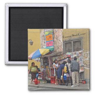 Street Corner in Peru Magnet