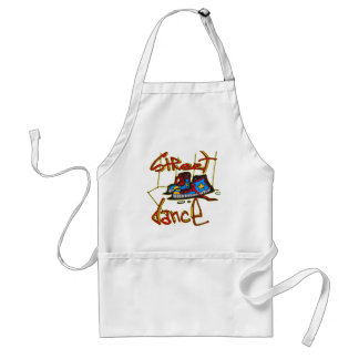 Street Dance and Shoes Adult Apron