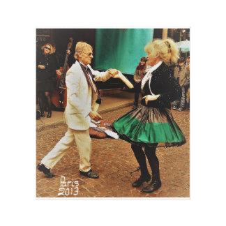 Street dancing in Paris Canvas Print