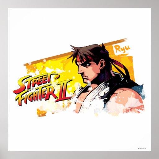 Street Fighter II Ryu Print