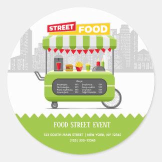 Street food classic round sticker