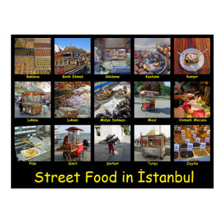 Street Food in İstanbul Postcard