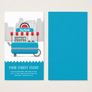 Street food sushi business card
