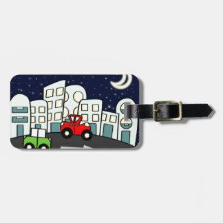 Street illustration bag tag