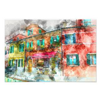 Street in Burano Italy near Venice Photo Print