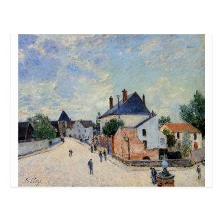 Street in Moret by Alfred Sisley Postcard
