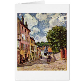 Street In Moret-Sur-Loing By Alfred Sisley Card